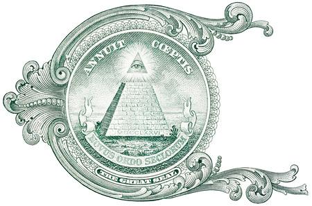 piramide humana: Una pirámide de detalle dólar.