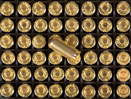 9mm ammo: Cartridges of 9mm pistols ammo.