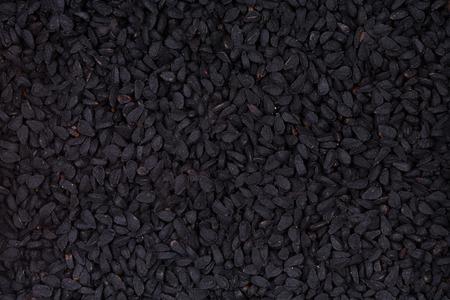 cumin: Black cumin. Stock Photo