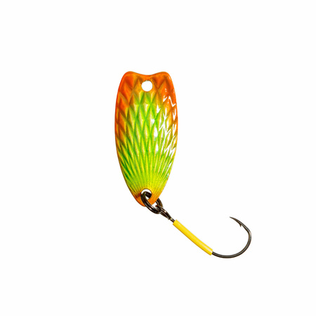 color image fish hook: Fishing lure for trout fishing.