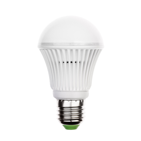 light socket: LED light bulb (lamp) with e27 socket Isolated on white