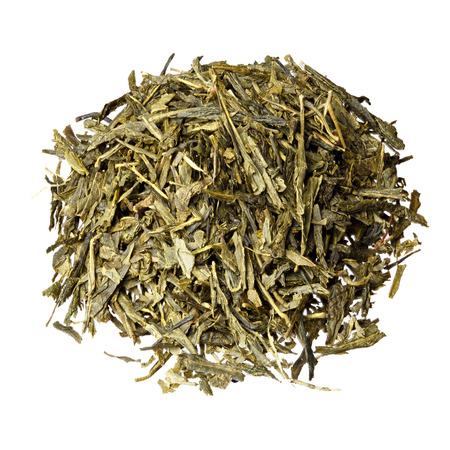 sencha tea: Sencha based tea mix isolated.
