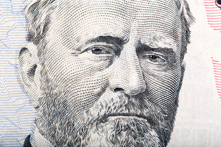 ulysses s  grant: A U.S. fifty 50 dollar bill close up of Grant Stock Photo