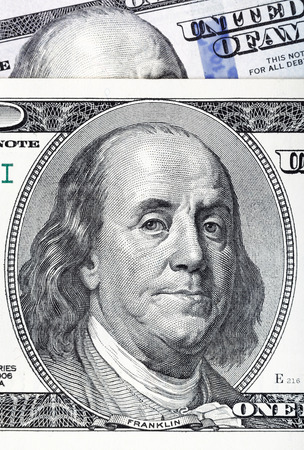 legal tender: Dollars closeup. Highly detailed picture of U.S. America money.