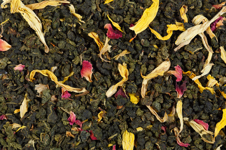 drank: Emperors 7 treasures tea. Stock Photo