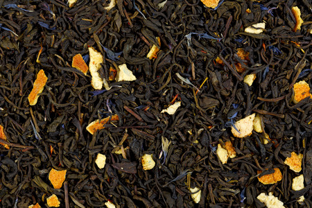 The Earl Grey tea texture.