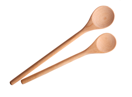 Two wooden spoons.