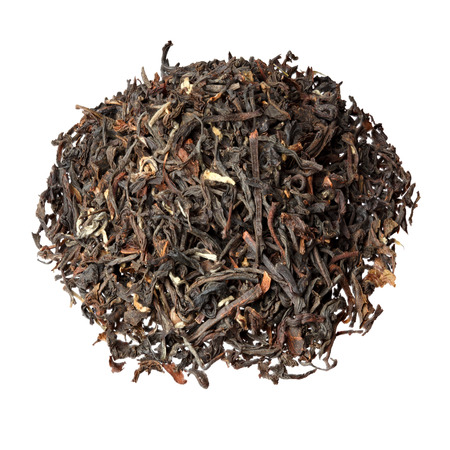 darjeeling: Pile of Darjeeling tea isolated on white.