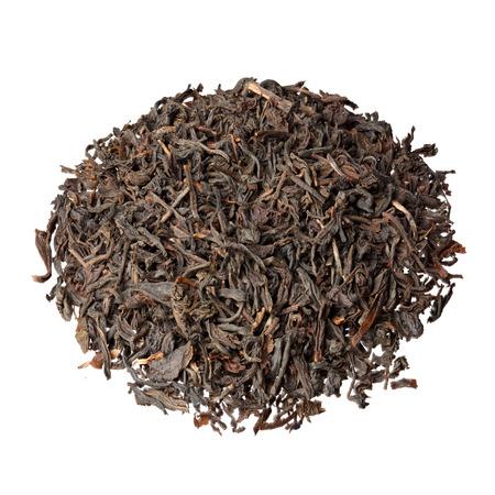 assam tea: Indian Assam tea isolated on white.