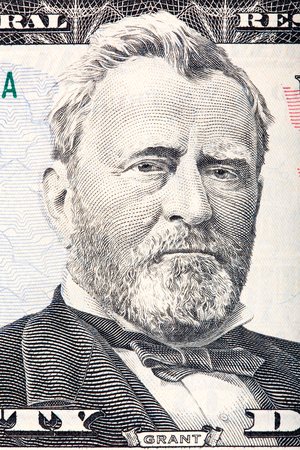 ulysses s  grant: Ulysses S. Grant on the fifty dollar bill. Stock Photo