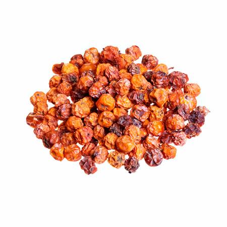 ash berry: Dry rowan on white background. Stock Photo