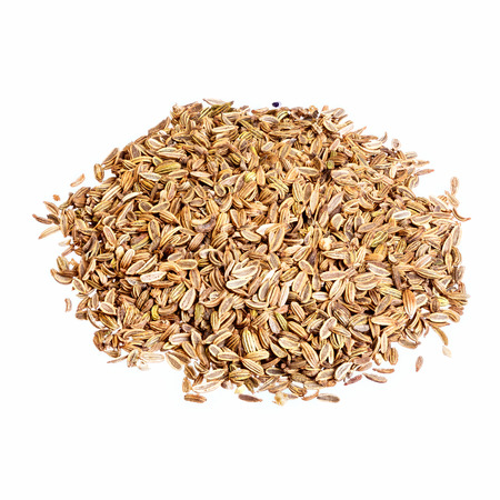 fennel seeds: Fennel seeds isolated on white background.