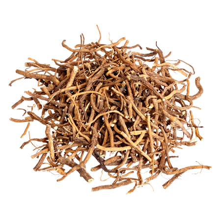 Valerian root for medical use. Isolated. Stock fotó