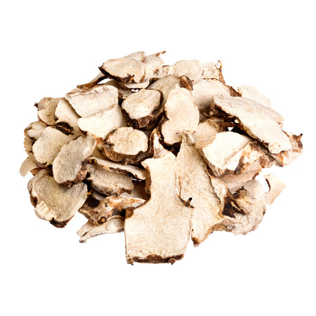 angelica sinensis: Dioscorea caucasica (Angelica sinensis or Female Ginseng). isolated on white.