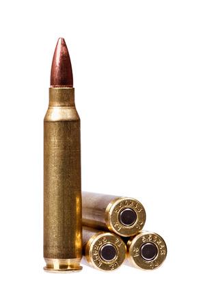 ammunition: Two rifle bullets ( ammunition). Stock Photo
