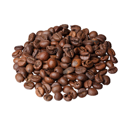 robusta: Camerun Robusta (gourmet coffee) on white background.