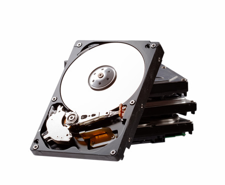 Hard drive isolated on white background. Data recovery concept. Stock fotó - 51706709