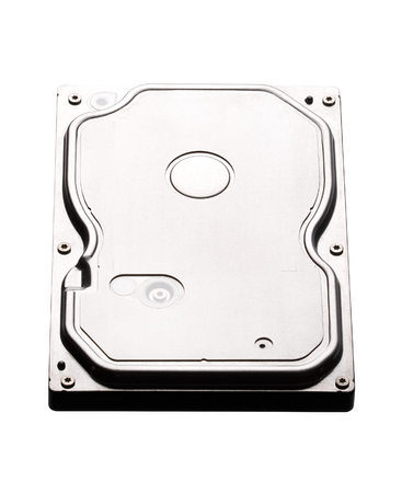 hard drive crash: Hard disk drive HDD isolated on white background.