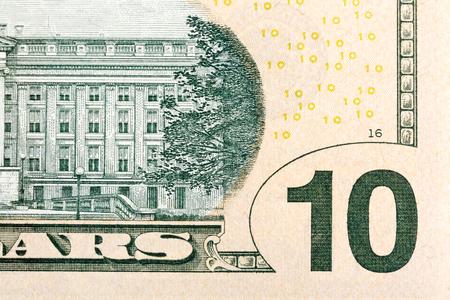 alexander hamilton: Alcuni elementi di US $ 10 dollari Dill. Archivio Fotografico