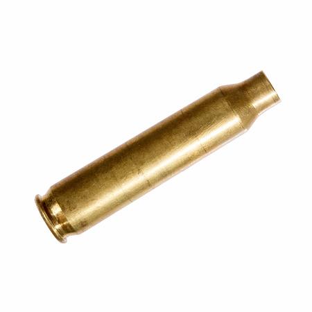 Close-up d'une cartouche fusil de balle vide.