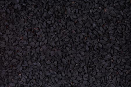 black: Black cumin. Stock Photo