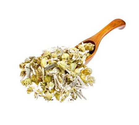 lemon grass: Lemon grass on the wooden spoon.