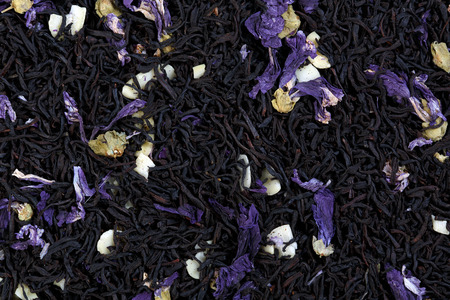 theine: Tea mix of mallow petals, almond, chocolate flavor.
