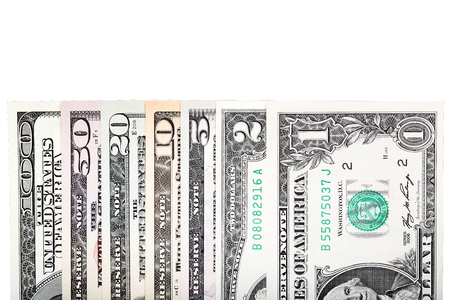 Currency dollar bond each, $ 100, $ 50, $ 20, $ 10, $ 5, $2 and $ 1.