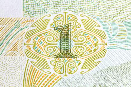 yuan: 1 yuan bill of China. Macro photo.