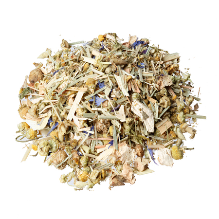 mate: Tea mix of chamomile, thyme, cornflowers, mate, lemongrass and ginger.