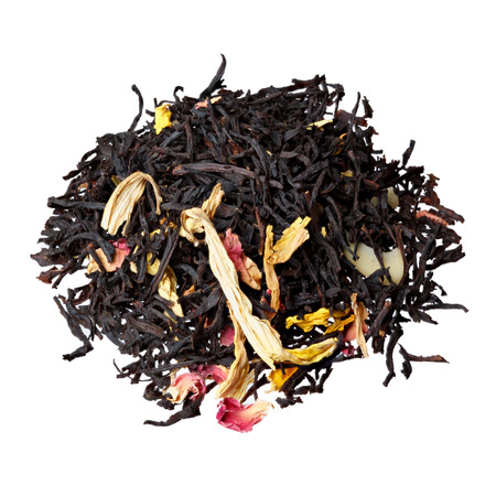 theine: Mix of rose petals, sunflower, almond and black tea.