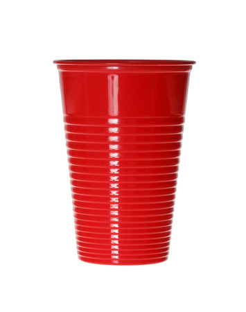 throwaway: Red Plastic Cup isolated on white.