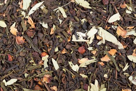 sencha tea: Mix based on Chinese tea shu puer, Japanese Sencha (Sencha) and senna leaves.
