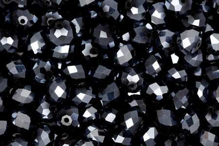 thermoplastic: Black beads. Stock Photo