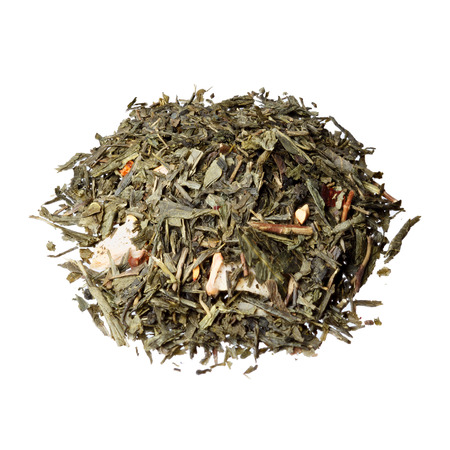 theine: Green flavored tea based on tea Sencha with strawberry, cranberry, apple and rosehip.