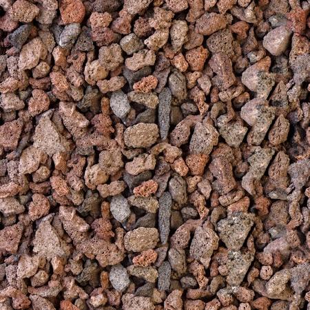 scoria: Volcanic lava stones. Seamless square texture. Tile ready.