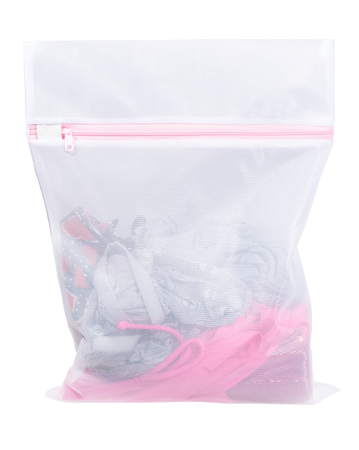 Clothing in laundry bag.