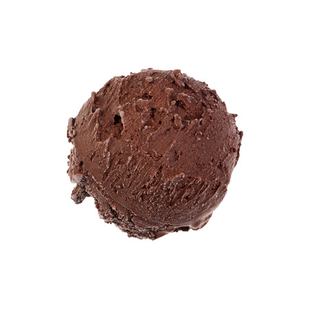 Chocolate ice-cream on white background