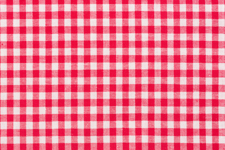 Red, whire checkered tartan, pattern. Hi res photo. Stock Photo
