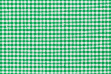 Green checkered picnic tablecloth. Of high quality