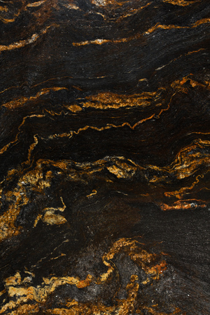 black onyx: Close up of beautiful, red, black and white marble texture, natural stone. Stock Photo