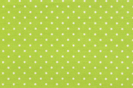 White and yellow polk dot fabric. Top quality