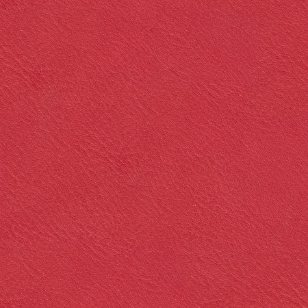 leatherette: Bright red leather texture. Seamless square background, tile ready. High resolution photo. Stock Photo
