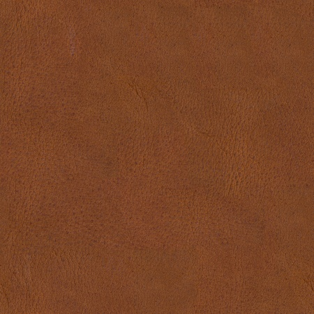 Texture of brown natural leather on macro. Seamless square background, tile ready. High resolution photo.