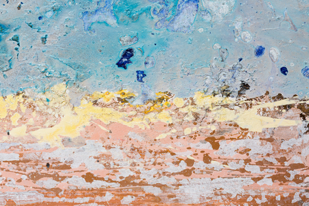paintings: Sea storm. Watercolor seascape original painting colorful of sea view. High resolution photo.