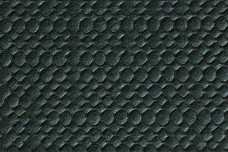 Black paper stamping texture. High resolution photo. Stock Photo