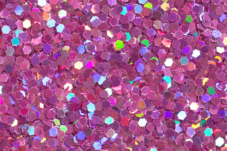 Light violet background with brightness on confetti. High resolution photo. Stock Photo