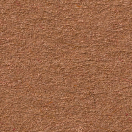 Brown paper texture with contrast reliefs. Seamless square background, tile ready. High resolution photo.
