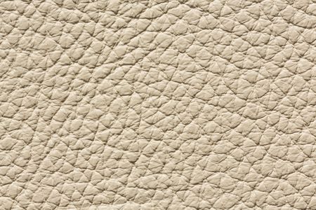 Light beige leather texture with relief surface. High resolution photo. 写真素材