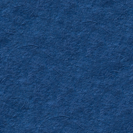 Blue paper texture with unusual surface. Seamless square background, tile ready. High resolution photo.